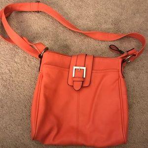 Merona orange purse with buckle